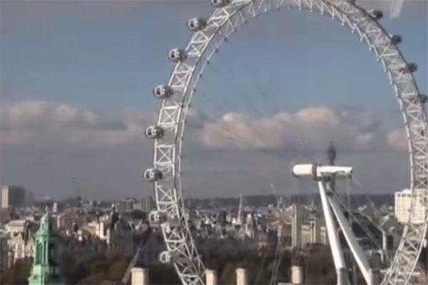 Из окна общежития, где живет Филипп, открывается шикарный вид на Лондон