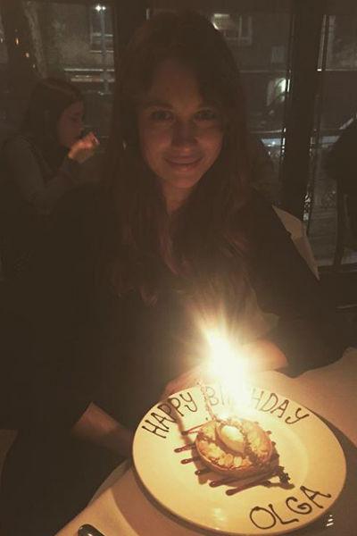День рождения Ольга отметила в романтической обстановке
