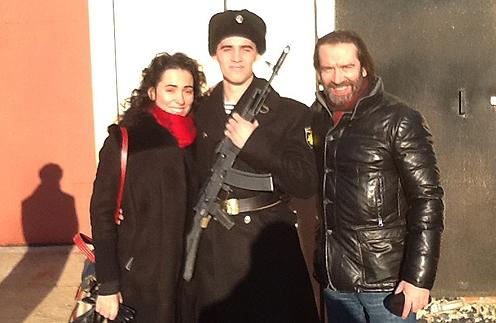 Владимир Машков с женой Оксаной и сыном Андреем
