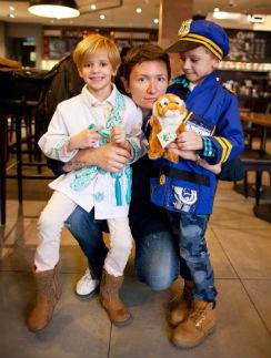Диана Арбенина с сыном Артемом и дочерью Мартой