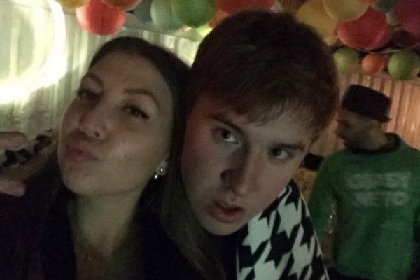 Егор Сосин с девушкой