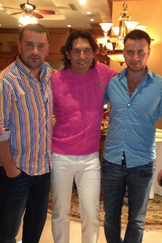 Леонид Закошанский с братом и Андрей