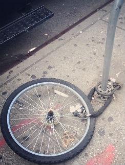 Останки велосипеда звезды