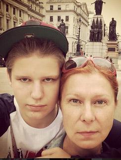 Даниил Виторган с мамой Викторией в Лондоне