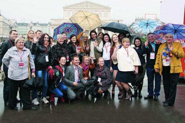 Группа наших финалистов из 30 городов страны на экскурсии в Москве