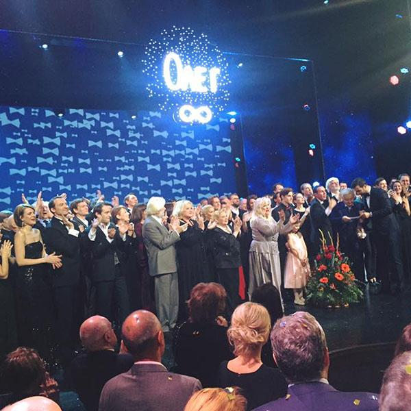 Поздравить Олега Табакова пришли его ученики, худруки театров, знаменитые спортсмены, гости из правительства