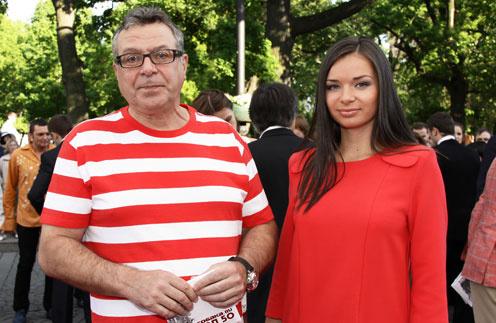 Андрей Ургант с гражданской женой Еленой