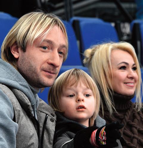 Яна Рудковская, Евгений и Саша Плющенко