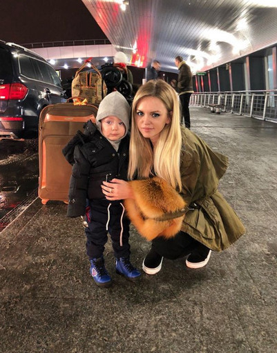 Милана с сыном проводят время в Сочи