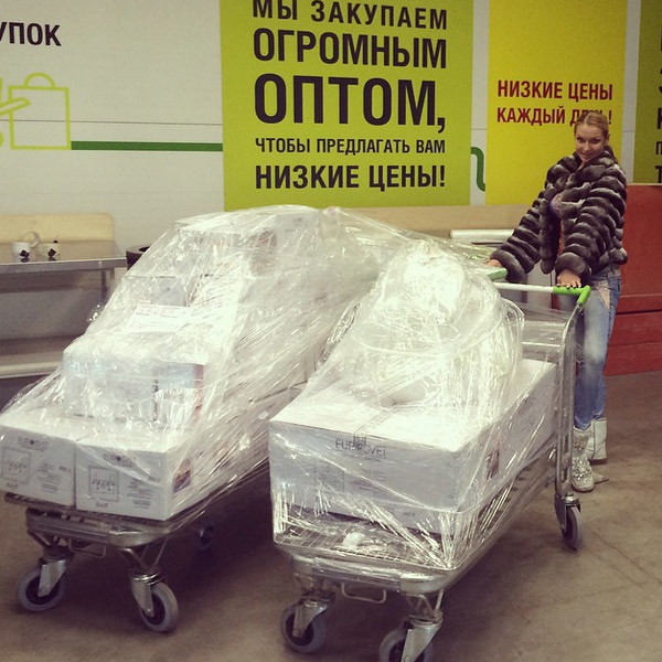 Анастасия Волочкова с покупками