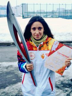 Ольга Плетенева стала олимпийским факелоносцем