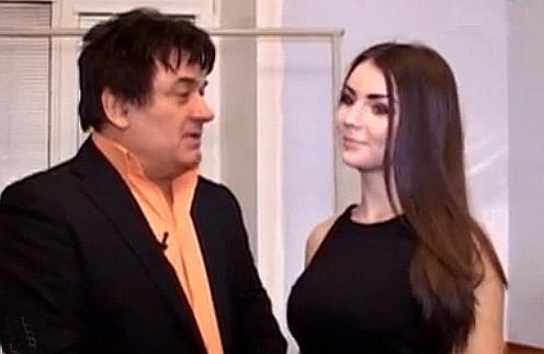 Александр Серов со своей юной протеже