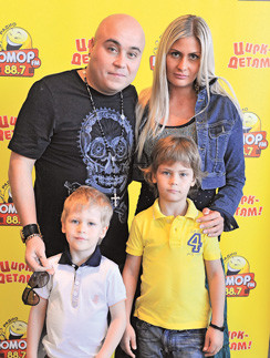 Доминик Джокер с бывшей женой и детьми
