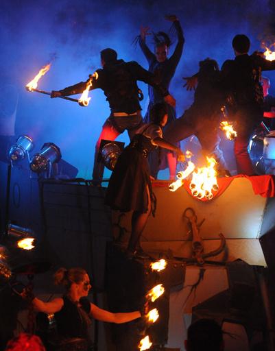 Выступление Волочковой сопровождало файер-шоу