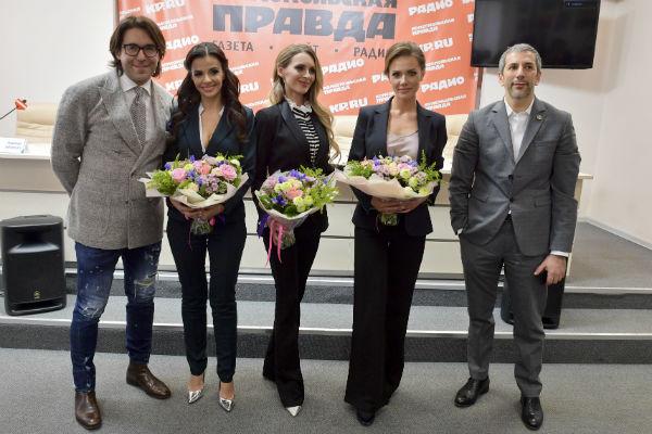 Андрей Малахов, Надежда Лысенко и Алексей Миндель (справа)