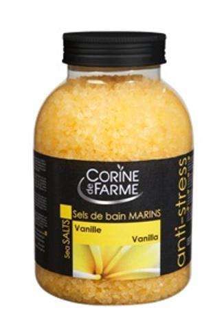 Соль для ванн Corine de farm c ароматом ванили