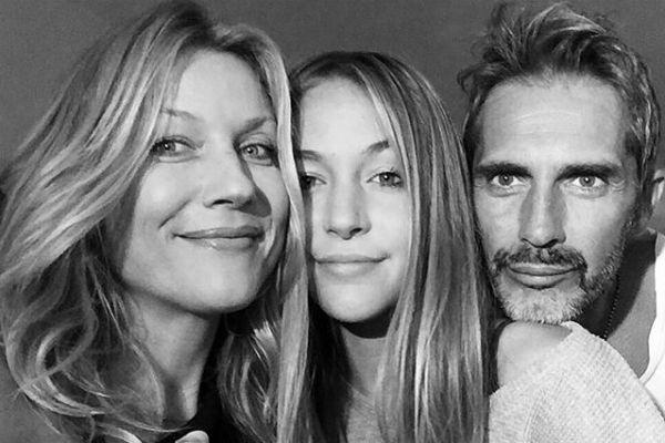 Наталья Стефаненко с дочерью Сашей и мужем Лукой