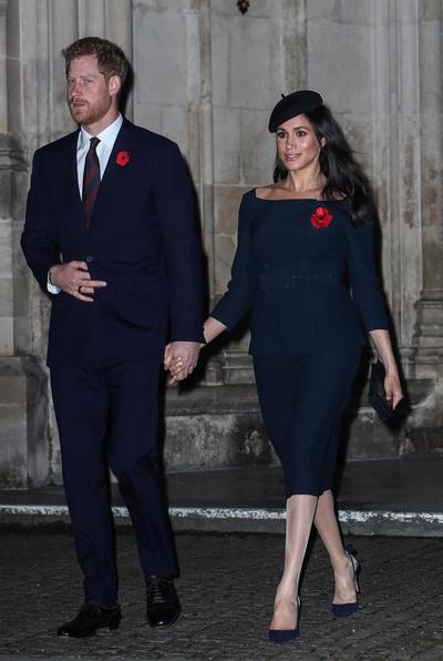 Меган Маркл с мужем принцем Гарри