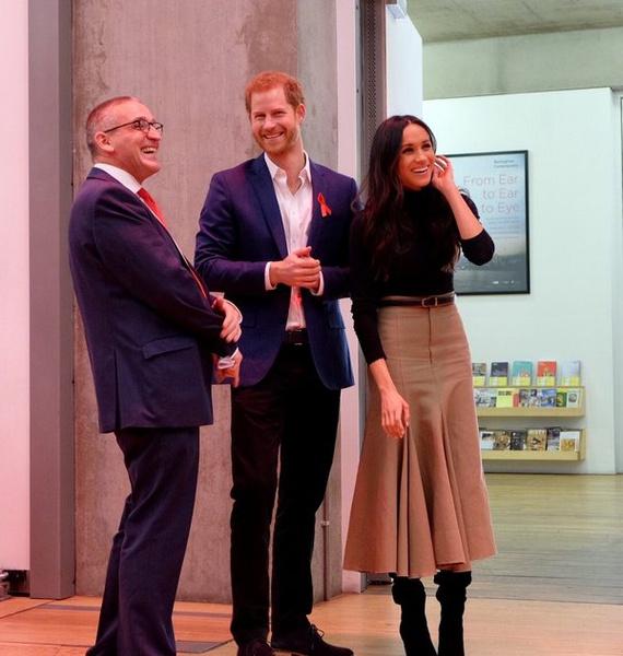 Гарри и Меган также посетили выставку в Ноттингеме
