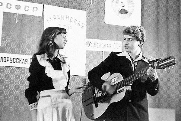 Леонид и Ирина не только встречались, но и выступали вместе, 1985 год