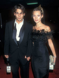 Джонни Депп и Кейт Мосс были вместе четыре года