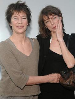 Джейн Биркин с дочерью Кейт Барри