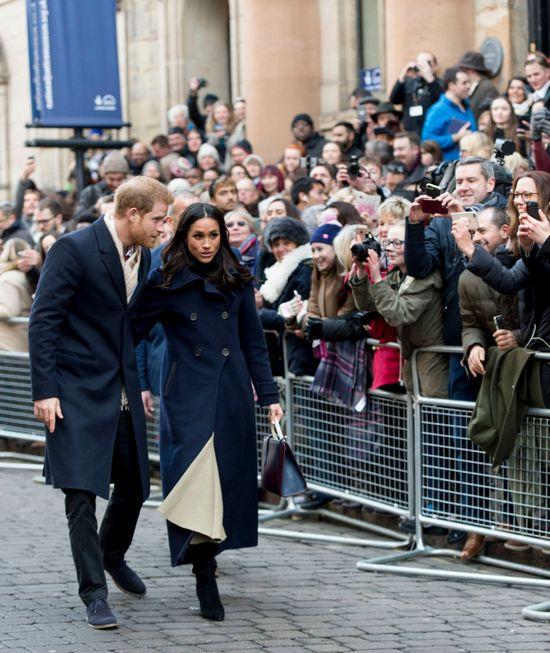 Гарри и Меган охотно позировали фотографам