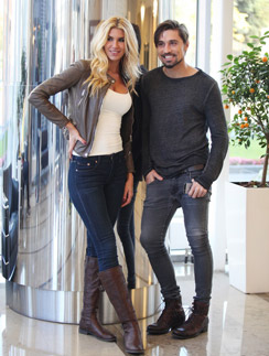 Дима Билан и модель Виктория Якубовская на съемках клипа для проекта ALIEN24