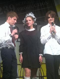 Полина Виторган на празднике последнего звонка