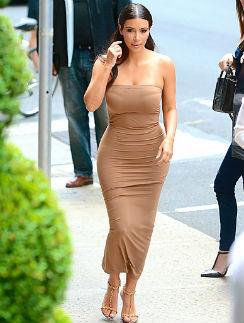 Женственность основа стиля Ким Кардашьян