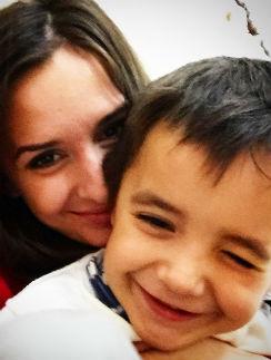 Маргарита Агибалова с сыном Митей