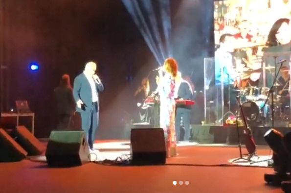 Альбина и Валерий на концерте на Кипре