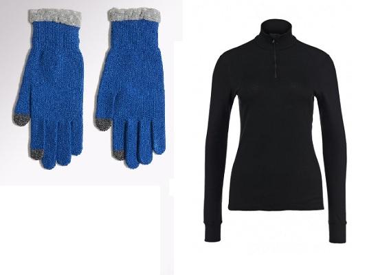 Утепленный сенсорные перчатки Adidas Climaheat, Термобелье Odlo