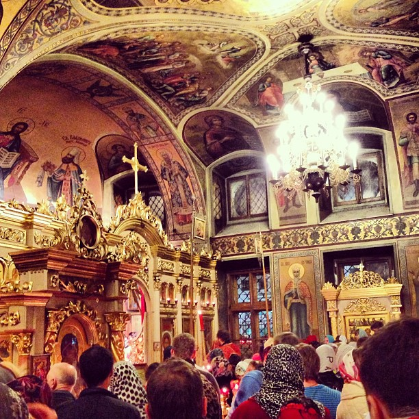 Гавр на службе в Храме Сергия Радонежского