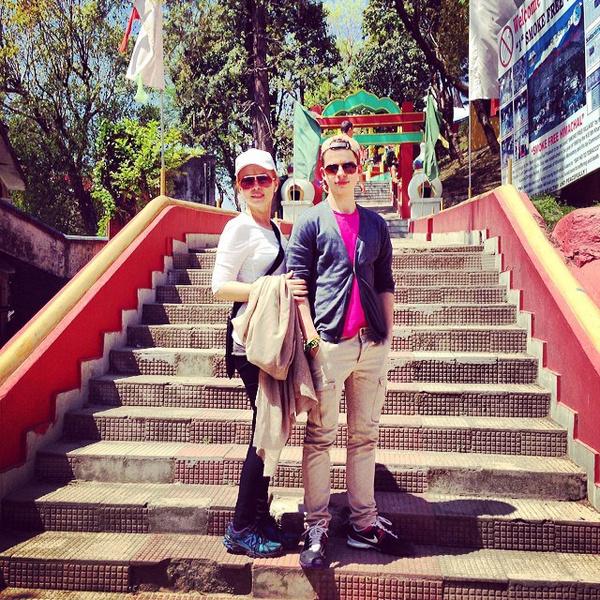 Марина и Филипп Газманов в Индии