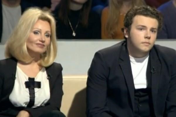 Ирина Климова и с сыном Никитой