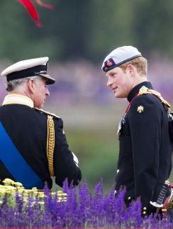 Принц Чарльз и принц Гарри