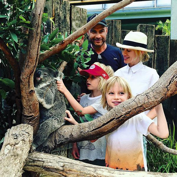 Новогодние каникулы супруги вместе с сыновьями провели в Австралии, январь 2016 года