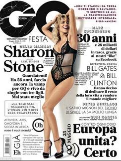Шерон Стоун на обложке июньского GQ в Италии