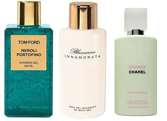 Tom Ford Гель для душа Neroli Portofino, Blumarine Гель для душа Innamorata, Chanel Гель для душа Chance