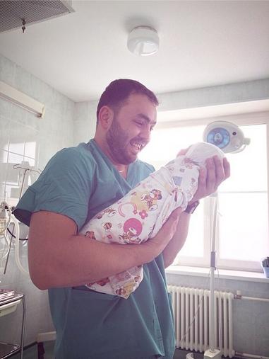 Александр Гобозов с малышом