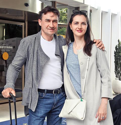 Камиль Ларин с женой Екатериной