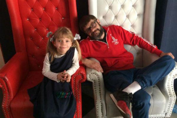 Сергей Сакин с дочкой