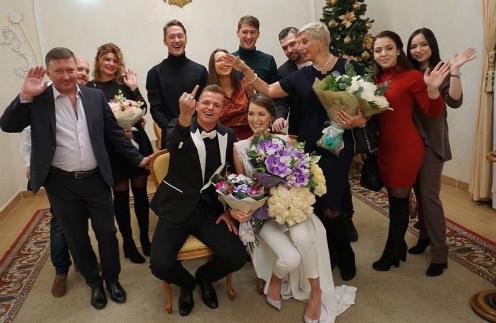 На регистрации брака присутствовали только родные и друзья