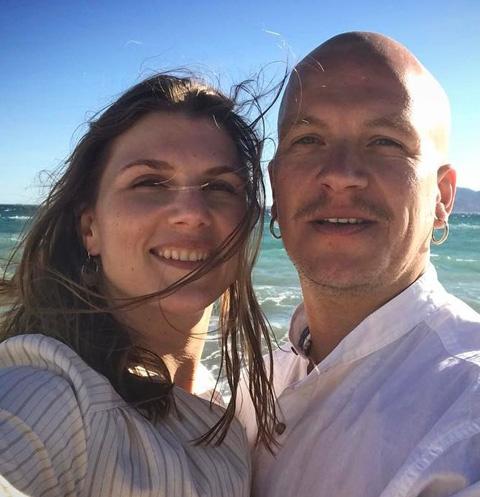 Марьяна Спивак и ее гражданский муж, актер Антон Кузнецов