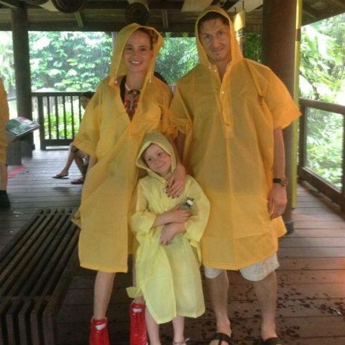 Наталья с мужем Александром и дочерью