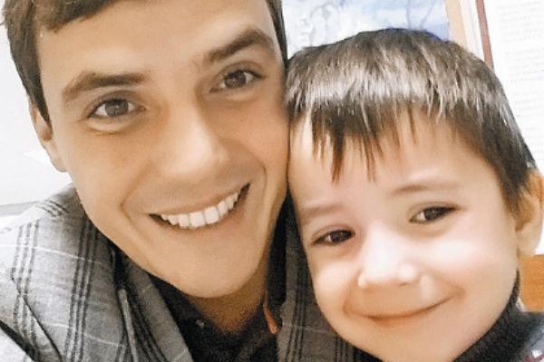 Евгений Кузин с сыном Митей