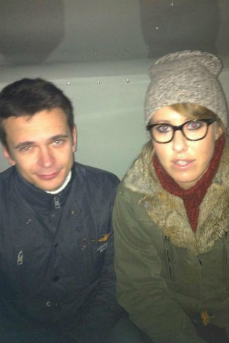 Ксения и Илья в автозаке