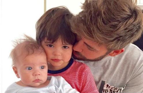 Жерар Пике с Миланом и Сашей