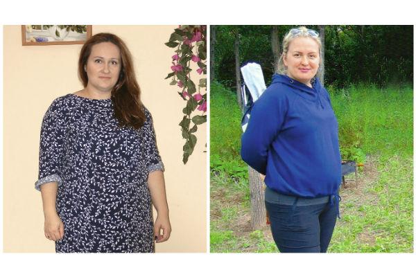 Слева: Валерия Шаповалова. Цель: -30 кг. Справа: Юлия Губина. Цель: - 17 кг